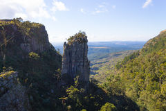 Blyde River Canyon panorama, South Africa. Blyde River Canyon panorama. The Pinnacle rock, famous landmark. South african landscape, Africa Stock Photo