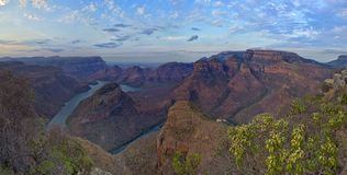 Blyde River Canyon (South Africa). The Blyde River Canyon is a significant natural feature of South Africa. It is approximately 26 kilometers in length and is royalty free stock photography
