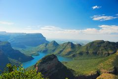 Blyde River Canyon (South Africa). The Blyde River Canyon is a significant natural feature of South Africa. It is approximately 26 kilometers in length and is stock photography