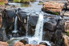 Blyde River Canyon,South Africa, Mpumalanga, Summer Landscape. Red rocks and water stock photography