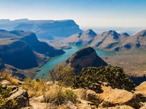 Blyde River Canyon, South Africa. Scenic view of the Blyde River Canyon, South Africa Stock Image