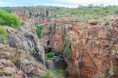 Blyde River Canyon,South Africa,  Summer  Landscape,  red rocks and water Stock Photos