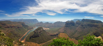 Blyde River Canyon and the Three Rondavels Stock Photography