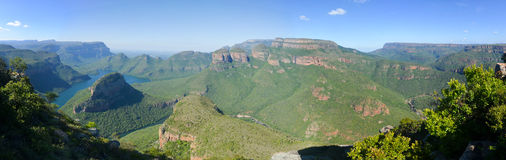 Blyde River Canyon and The Three Rondavels Stock Photos