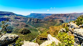 The Blyde River flowing through the Blyde River Canyon along the Panorama Route Stock Photo