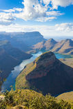 Blyde river lake, South Africa. Lake near the Three Rondavels, from Blyde River Canyon, South Africa. Famous landmark. African panorama Royalty Free Stock Photos