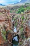 Blyde Rzeczny jar, Południowa Afryka, Mpumalanga, lato krajobraz Obrazy Royalty Free