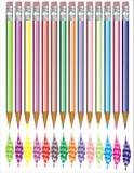 blyertspenna royaltyfri illustrationer