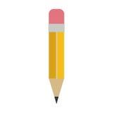 Blyertspenna med radergummisymbolen royaltyfri illustrationer