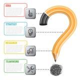 Blyertspenna och Infographic Arkivfoto