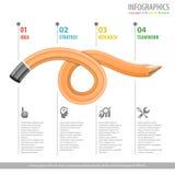 Blyertspenna och Infographic Arkivfoton