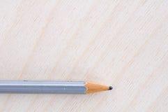 Blyertspenna på trä Arkivfoto
