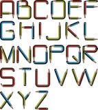 Blyertspennaalfabet Arkivbild