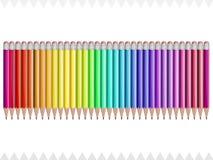 Blyertspennafärger av regnbågen vektor illustrationer