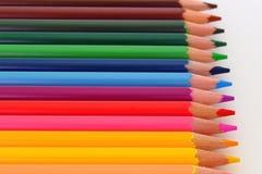 Blyertspennafärgpennor Fotografering för Bildbyråer