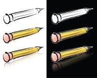 blyertspennan skissar Arkivfoto