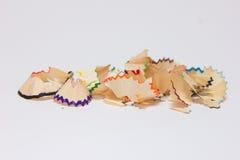 Blyertspennasågspån Arkivfoto