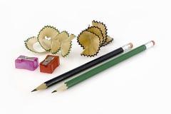 blyertspennashavings royaltyfri foto