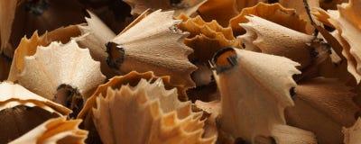 Blyertspennashavings - baner-/titelradupplaga Royaltyfri Foto