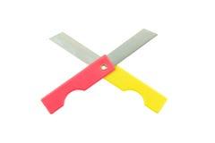 Blyertspennaskärarekniv som isoleras på vit bakgrund Fotografering för Bildbyråer