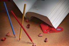 blyertspennaskolor Royaltyfri Foto