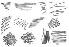 blyertspennaslaglängder Arkivbild