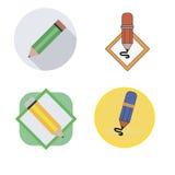 Blyertspennasymbolssymbol stock illustrationer