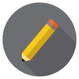 Blyertspennavektorsymbol Royaltyfria Bilder