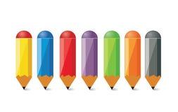 blyertspennor Vektor Illustrationer
