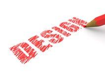 blyertspennor för designteckning Royaltyfri Foto