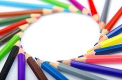 blyertspennor för färgbegreppskreativitet Fotografering för Bildbyråer