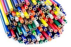 blyertspennor för nya idéer för bakgrund vita isolerade Royaltyfria Bilder
