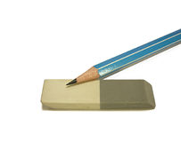 Blyertspennor med ett radergummi Royaltyfria Foton
