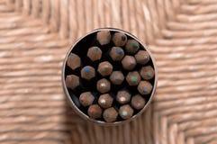 Blyertspennor: närbild Arkivfoton