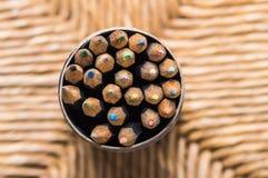 Blyertspennor: närbild Arkivbild