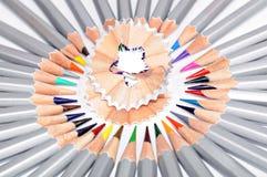 Blyertspennor och raka Fotografering för Bildbyråer