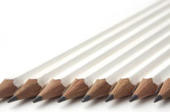 blyertspennor row white arkivfoto
