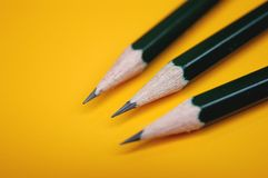 blyertspennor tre Royaltyfri Foto