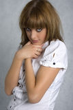 blyg flicka Royaltyfria Bilder