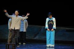 Blyg kvinnaJiangxi opera en besman Royaltyfria Foton