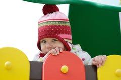 Blyg litet barn Arkivfoto