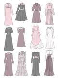 Blygsamma långa klänningar Royaltyfri Fotografi