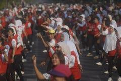 BLYGSAMT MÅL FÖR INDONESIEN SEA GAMES Royaltyfria Foton