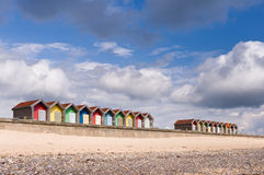 Blyth beach huts Stock Photos