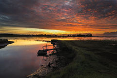 Blythburgh marshes suffolk Royalty Free Stock Photos