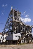 Blyvooruitzicht Gold Mine. No 1 shaft carletonville south africa. This shaft has been decommissioned following the mining of the last gold from the shaft Royalty Free Stock Photo