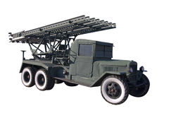 BM-13 MLRS isolated Royalty Free Stock Photo
