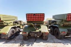 BM-21 absolwent 122 mm wielokrotności wyrzutnia rakietowa Obrazy Stock