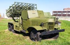 BM-31-12 Andryusha多个发射火箭队系统 免版税库存图片