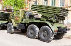 BM-21 Grad 122-mm Multiple Rocket Launcher Royalty Free Stock Images